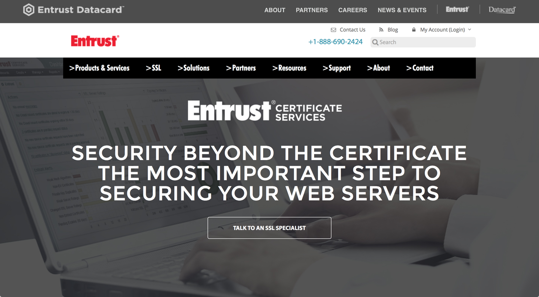 Enstrust SSL Page